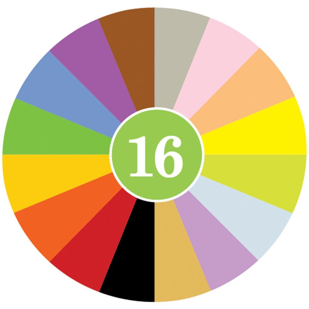 16 Colors in a Green Polka Dot Bag - 748252610430