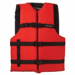 Adult General Purpose 2XL/4XL Red/Black Life Vest