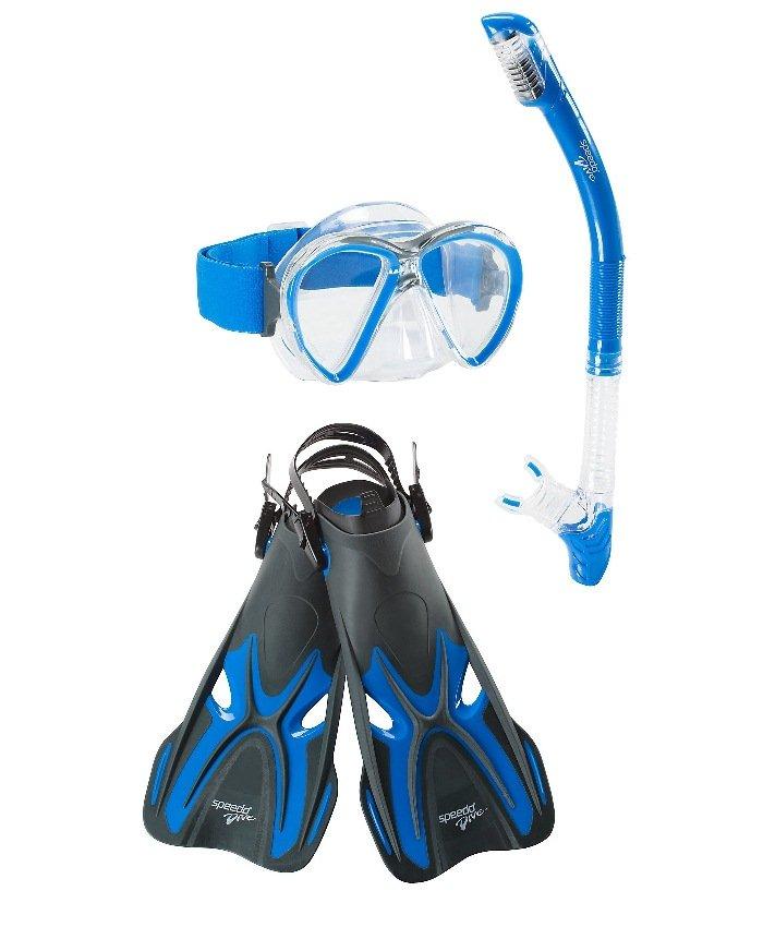 Speedo Reefseeker Mask/Snorkel/Fin Set