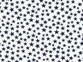 45 Patriotic navy stars on white