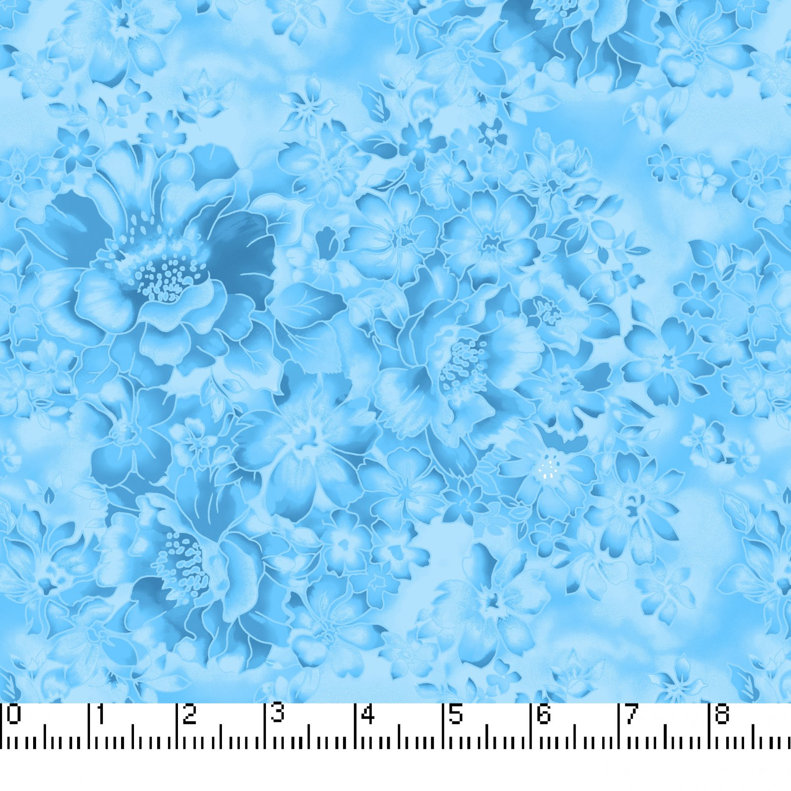 108 Faded Floral Turquoise