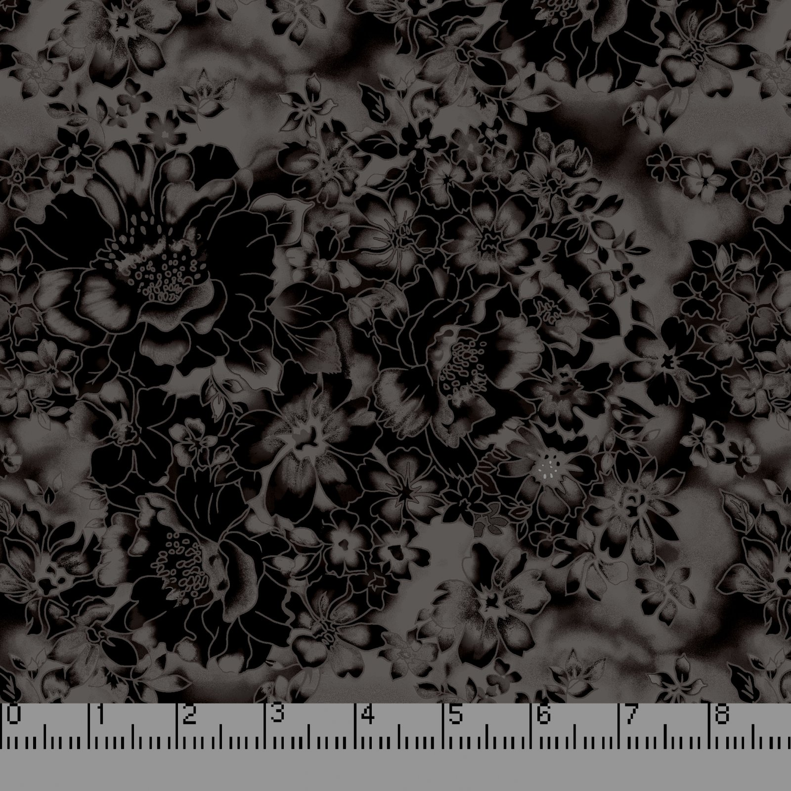 108 Faded Floral Black