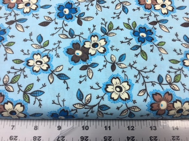 45 Happy Floral Blue