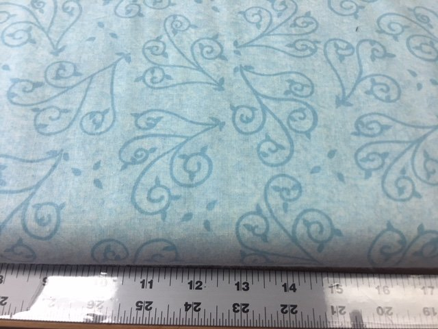108 Swirl Light Blue 3 yards