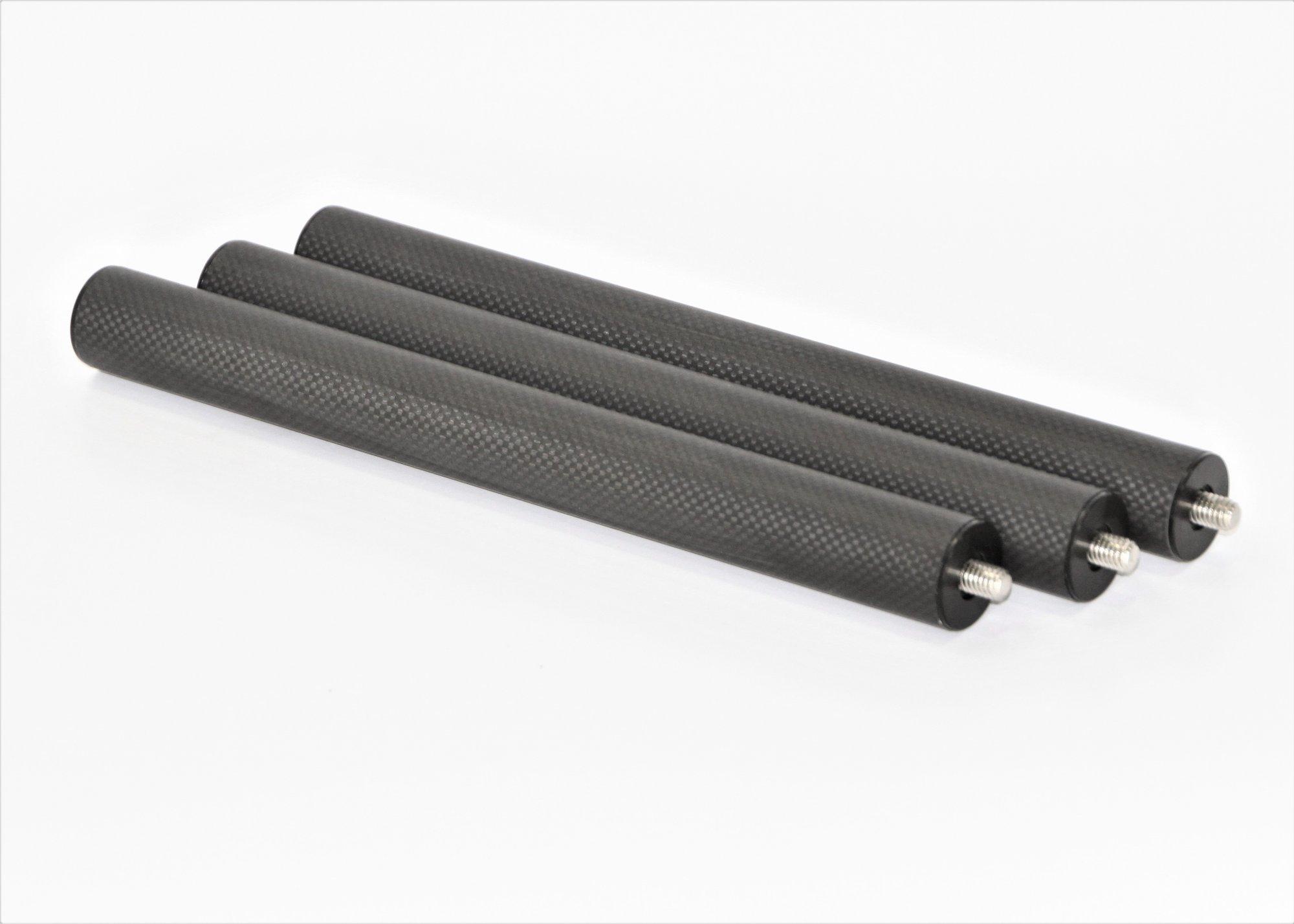 12 Leg Extension, 3 Pack, 32mm Carbon Fiber