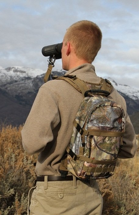 Alpine 1200 Day Pack for BinoPOD with Hydration compartment - Camo