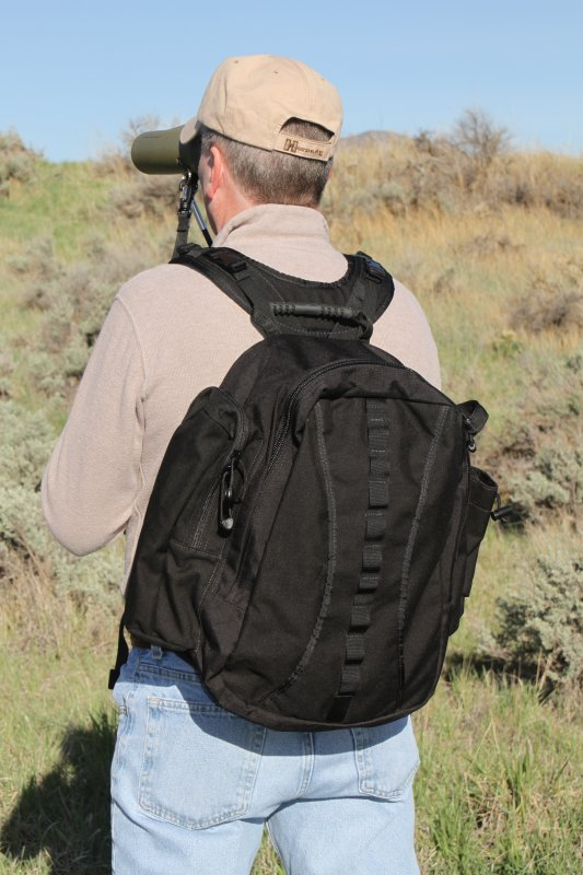 Sierra 2200 c.i. Back Pack (Black) for BinoPOD Harness