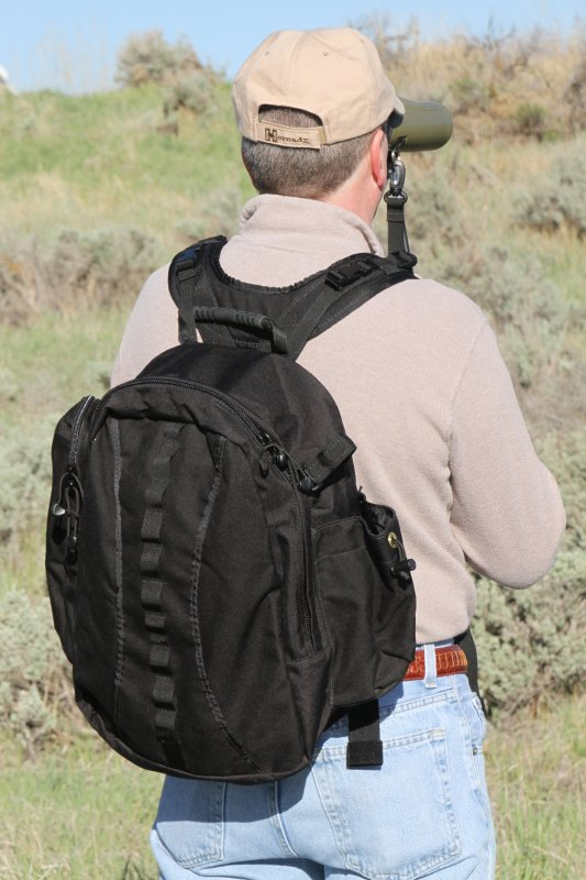 Sierra 2200 c.i. Back Pack (Black) for BinoPOD Harness