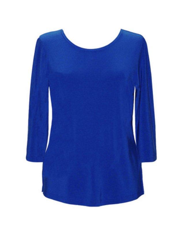 Valentina Solid 3/4 Top, Royal Blue