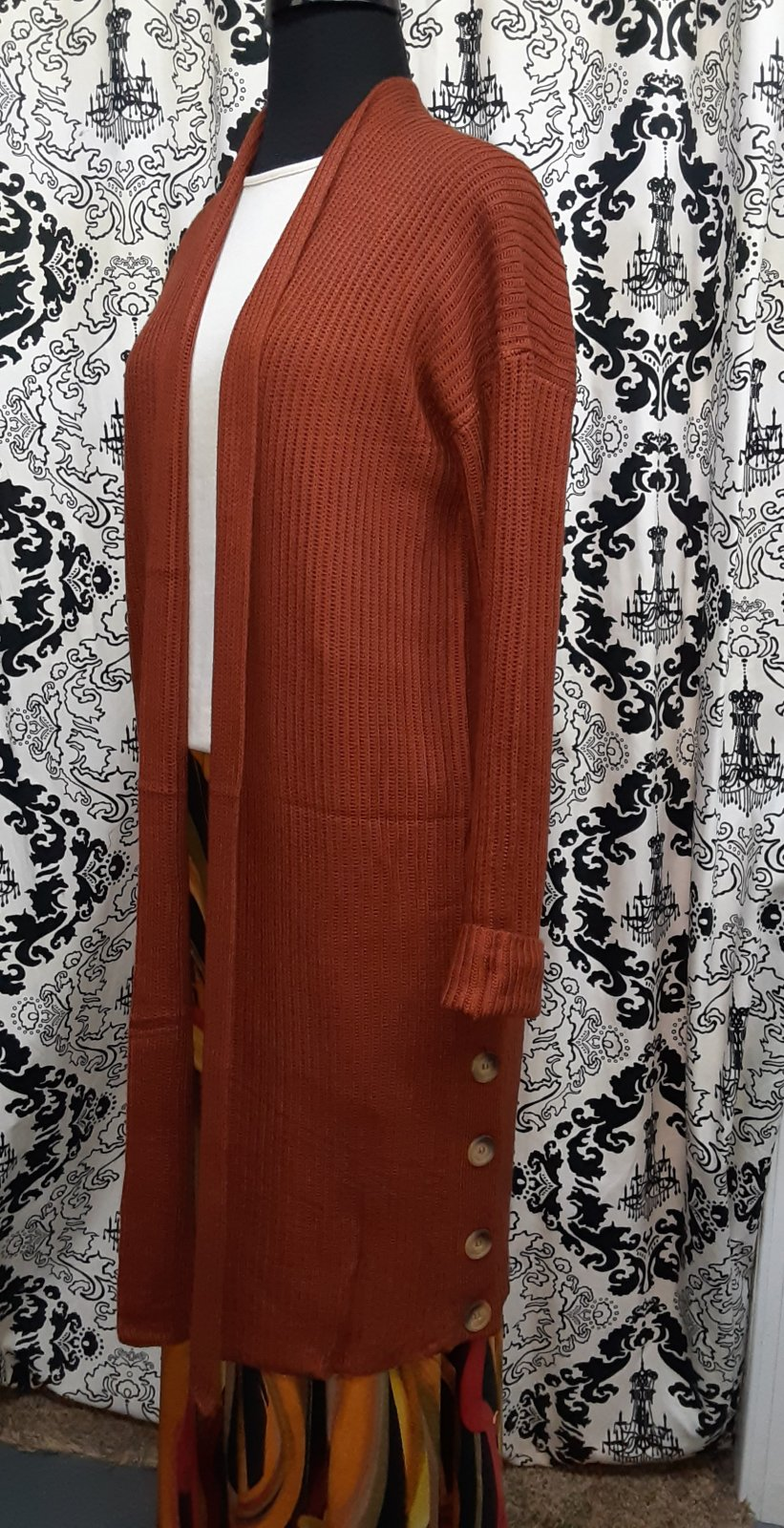 KH Rust Cardigan  Sweater