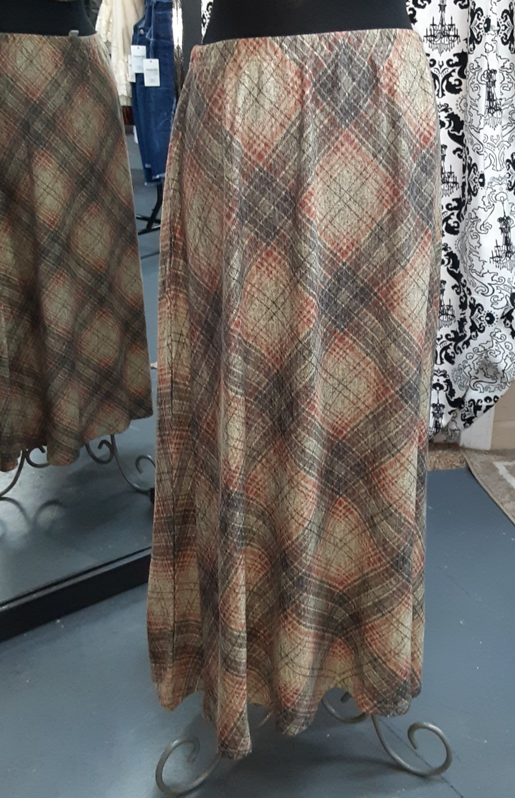 SL Brown/Rust Plaid Skirt