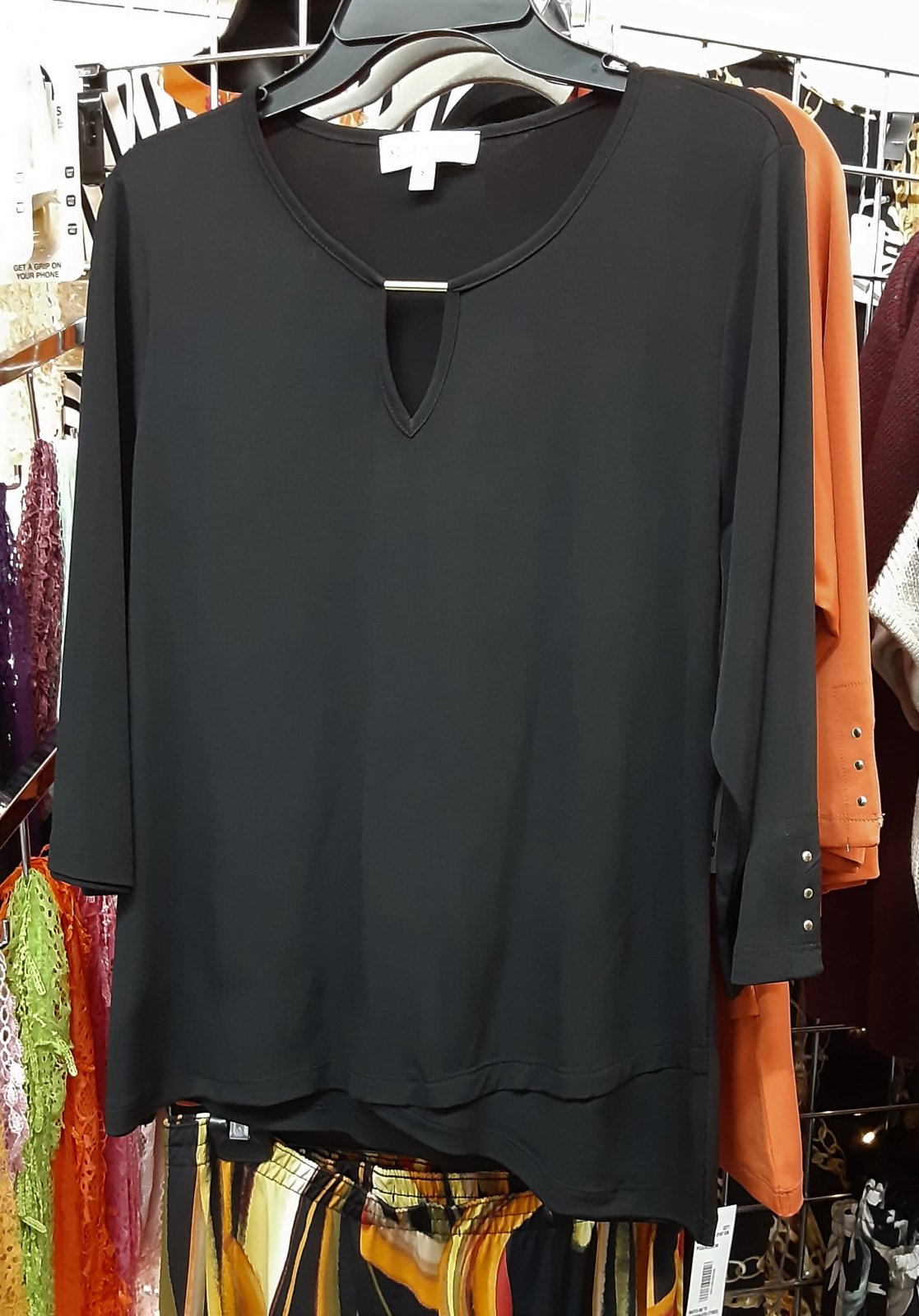 SL Black Top w/keyhole neckline