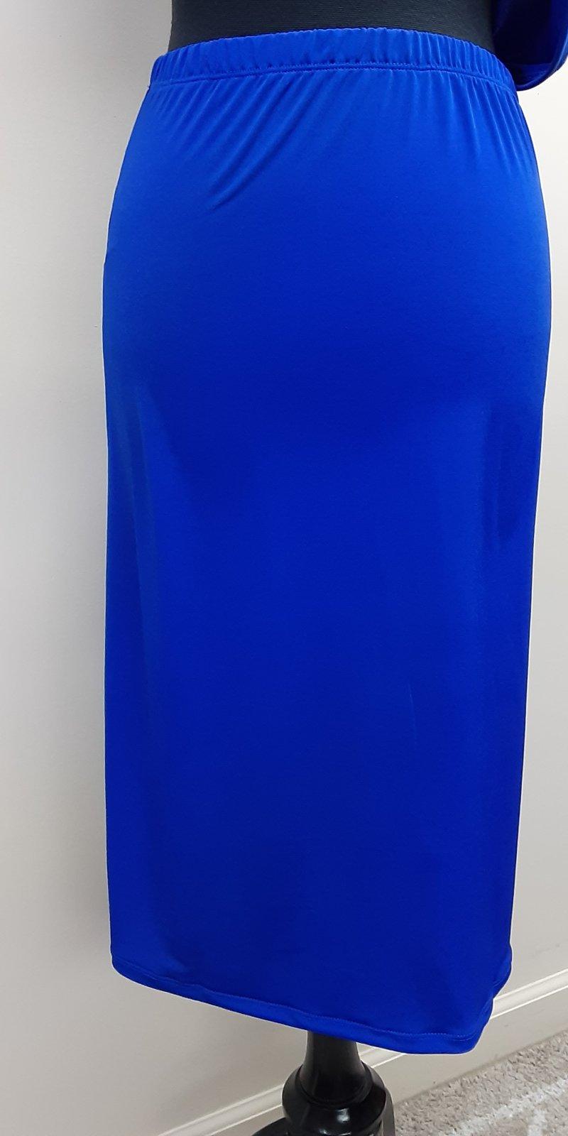 Royal Blue Midi Skirt, Shane Lee