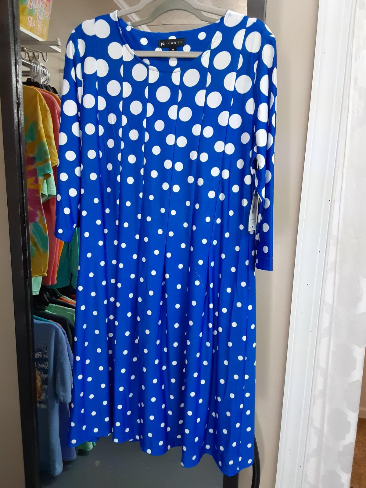 Bright Blue Dot Dress