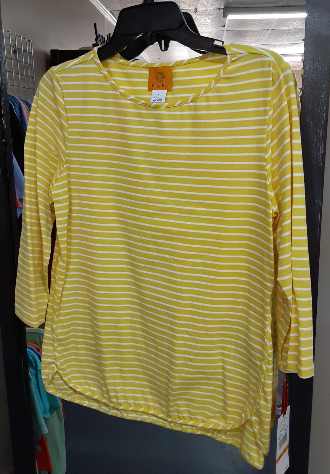 Ruby Rd. Yellow Stripe Top