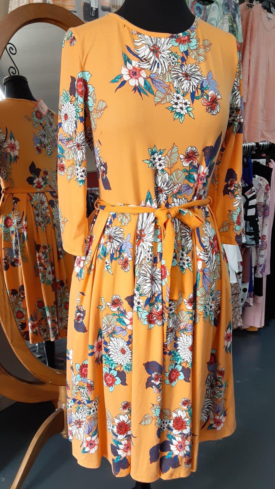 Avital Mango Floral Dress