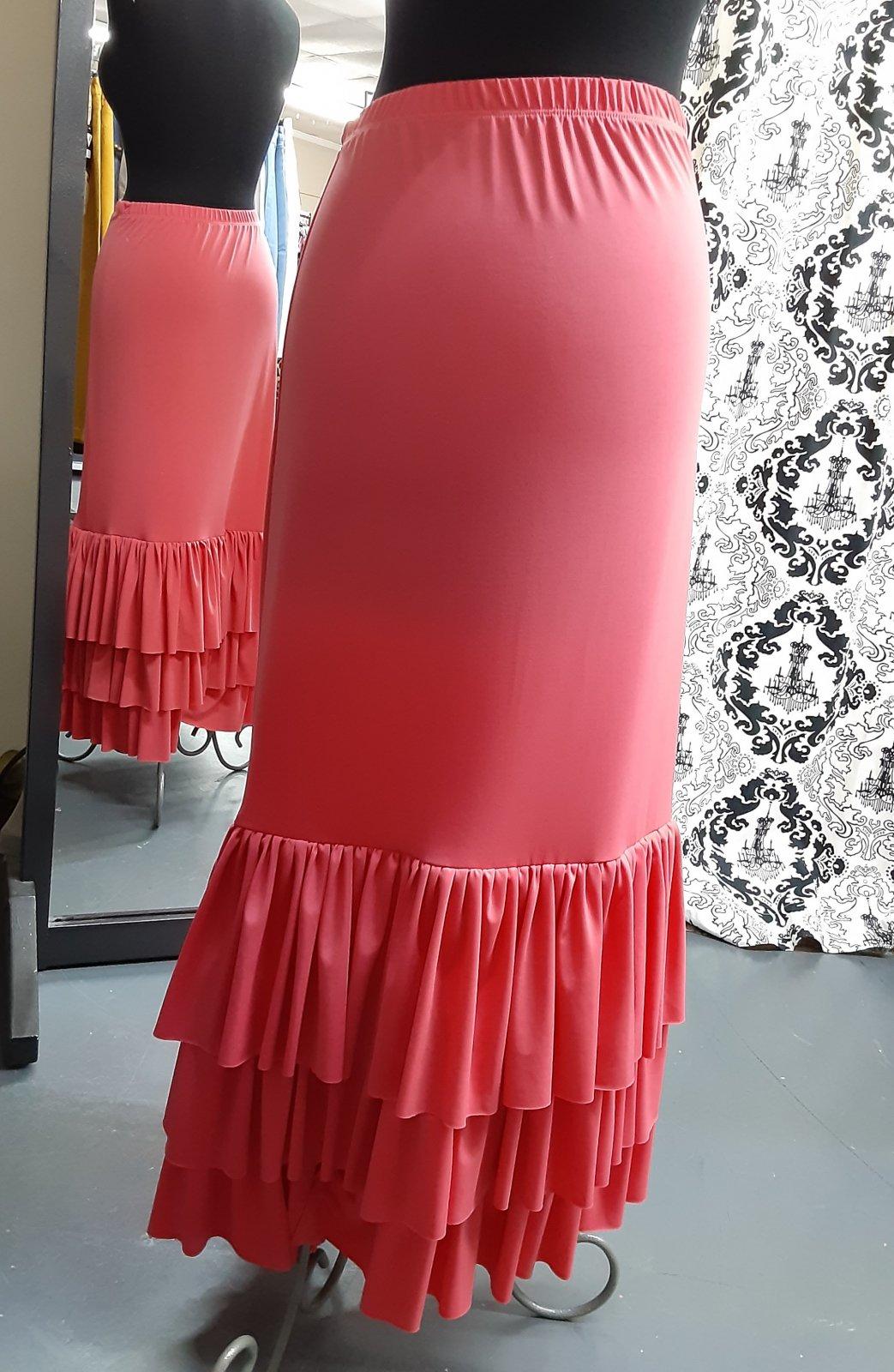 Plus 3 Ruffle Maxi Skirt Coral