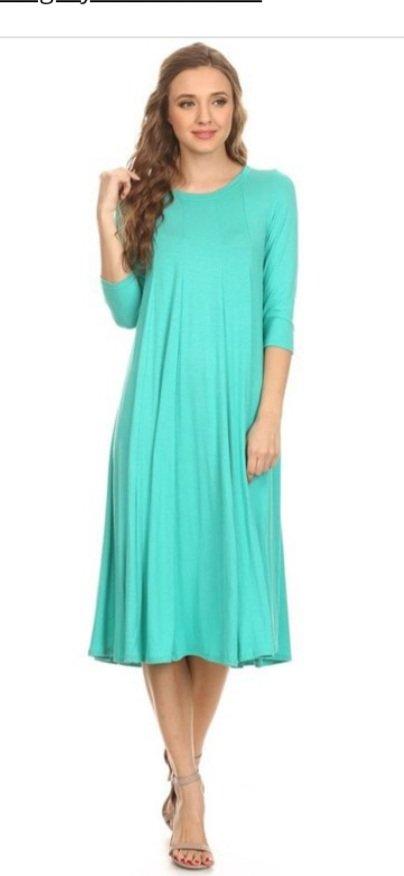 Mint Midi Dress Moa