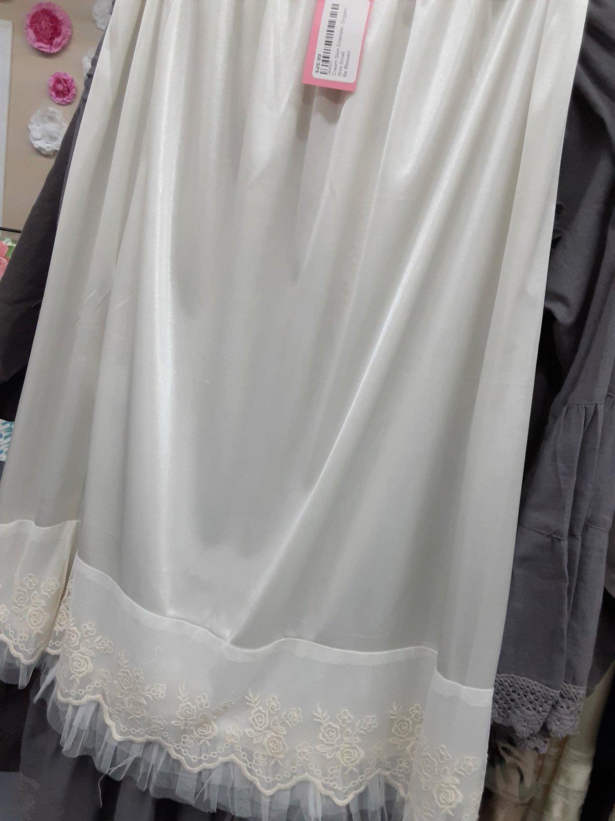 Ivory Skirt Extender, Origami 30