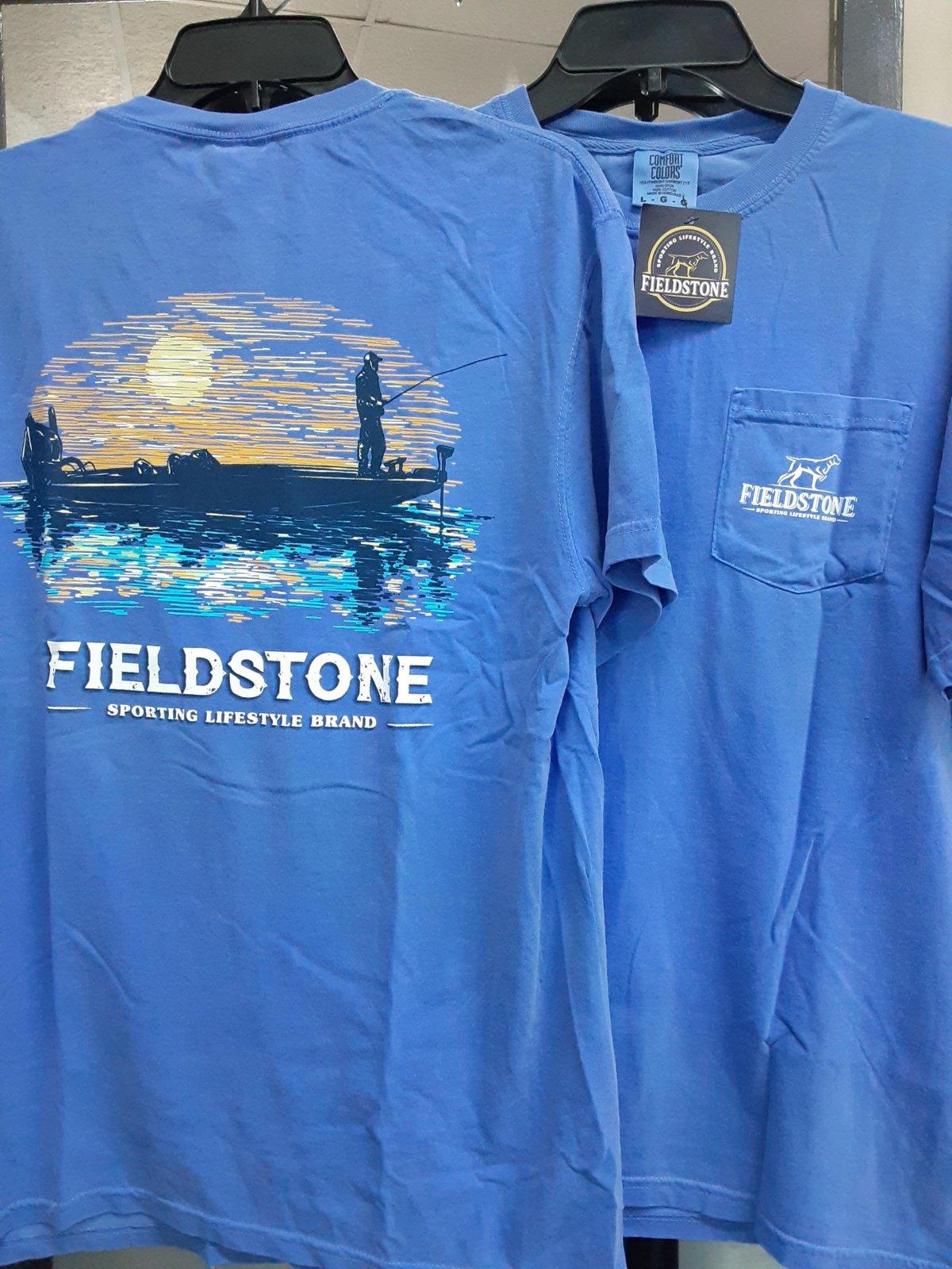 Fieldstone Fishing T-Shirt blue