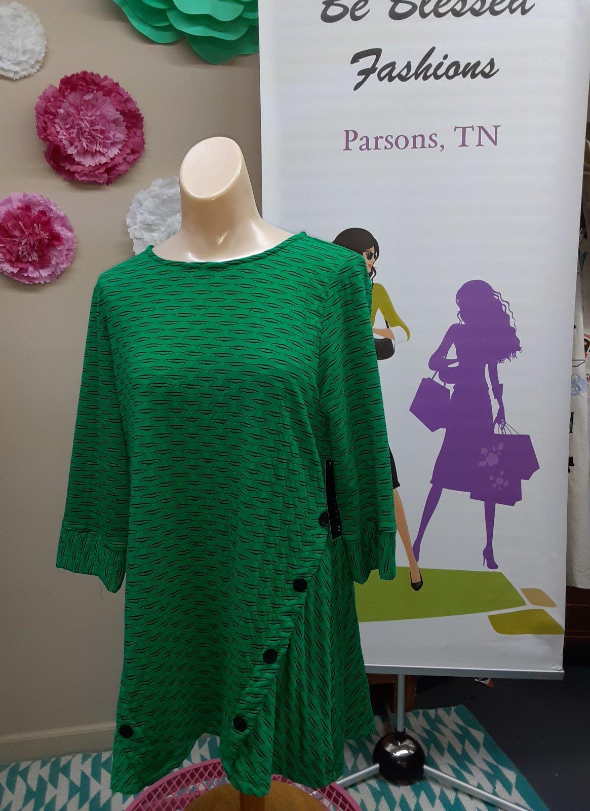 Plus Emerald Green/BL Tunic