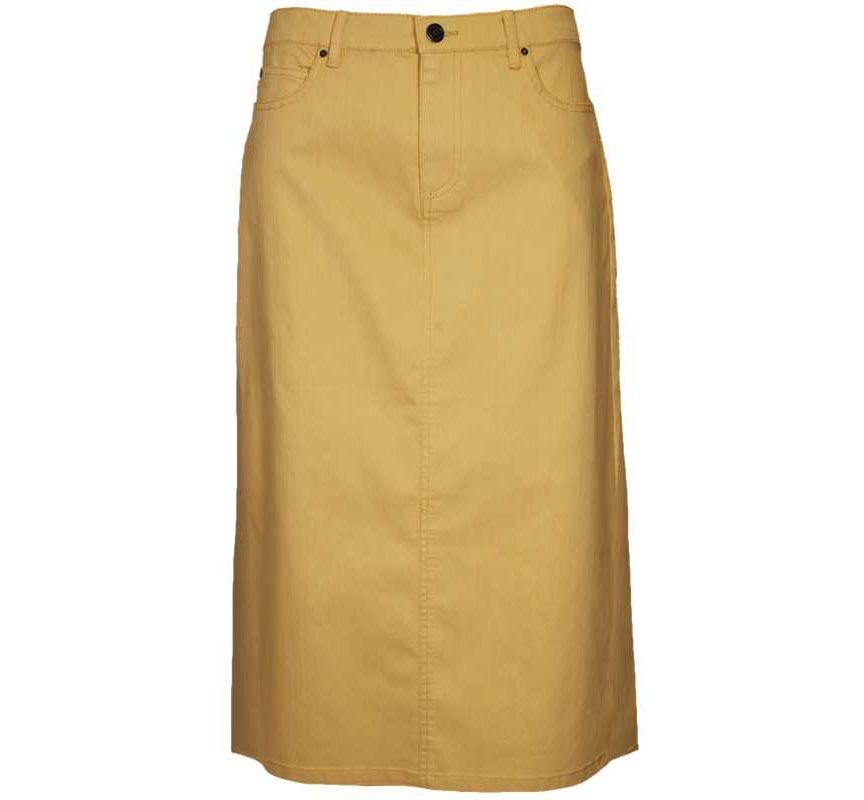 Butter Yellow Denim Skirt N Touch