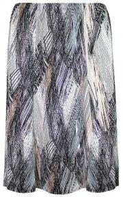 Plus Neutral Print Flair Skirt SL