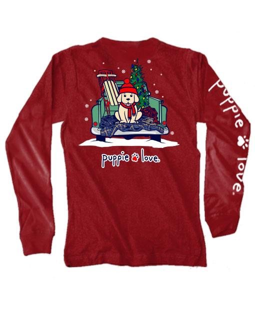 L.S. Puppy Love T-Shirt, Christmas Truck