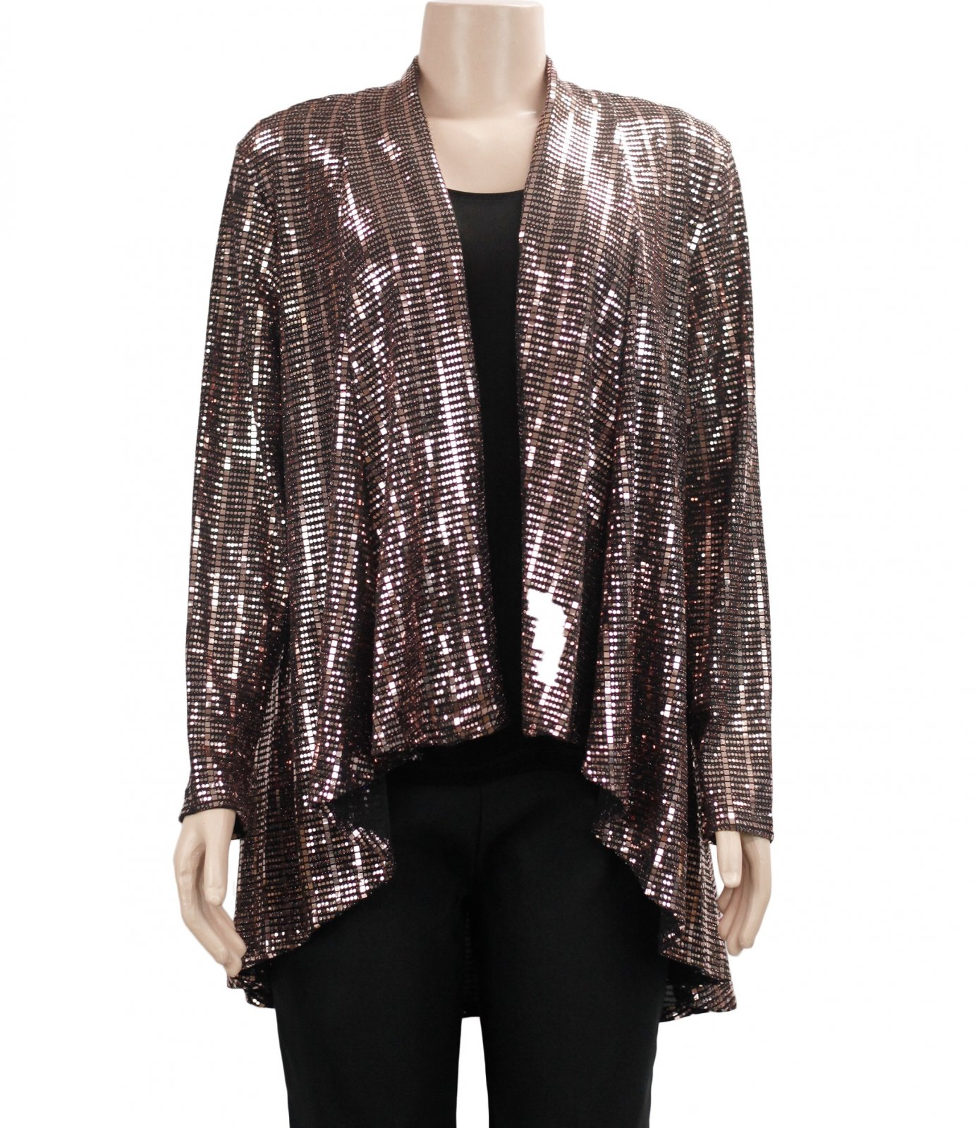 All Hours Rose Gold/Black Cardigan