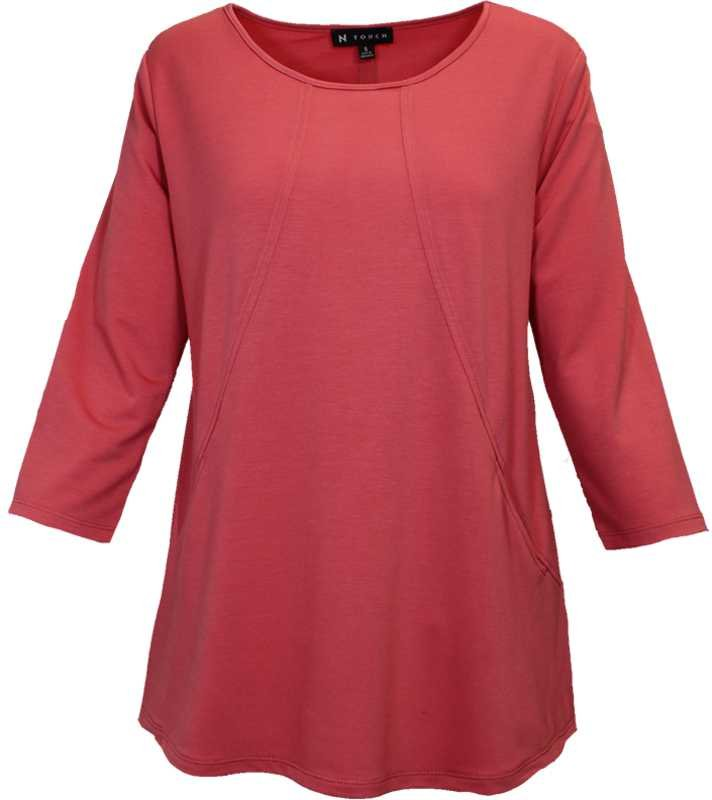 N Touch Rose Tunic Top