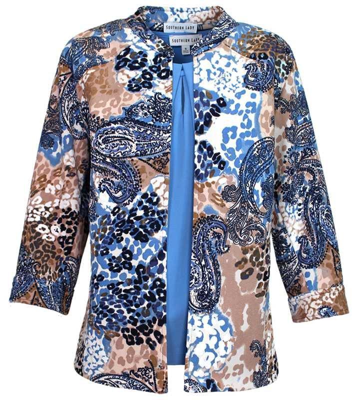 Southern Lady Blue Print Jacket