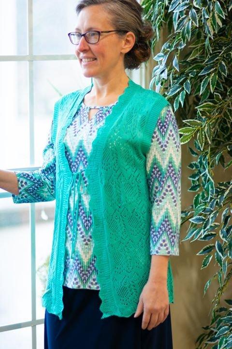 Southern Lady Sweater Vest Jade