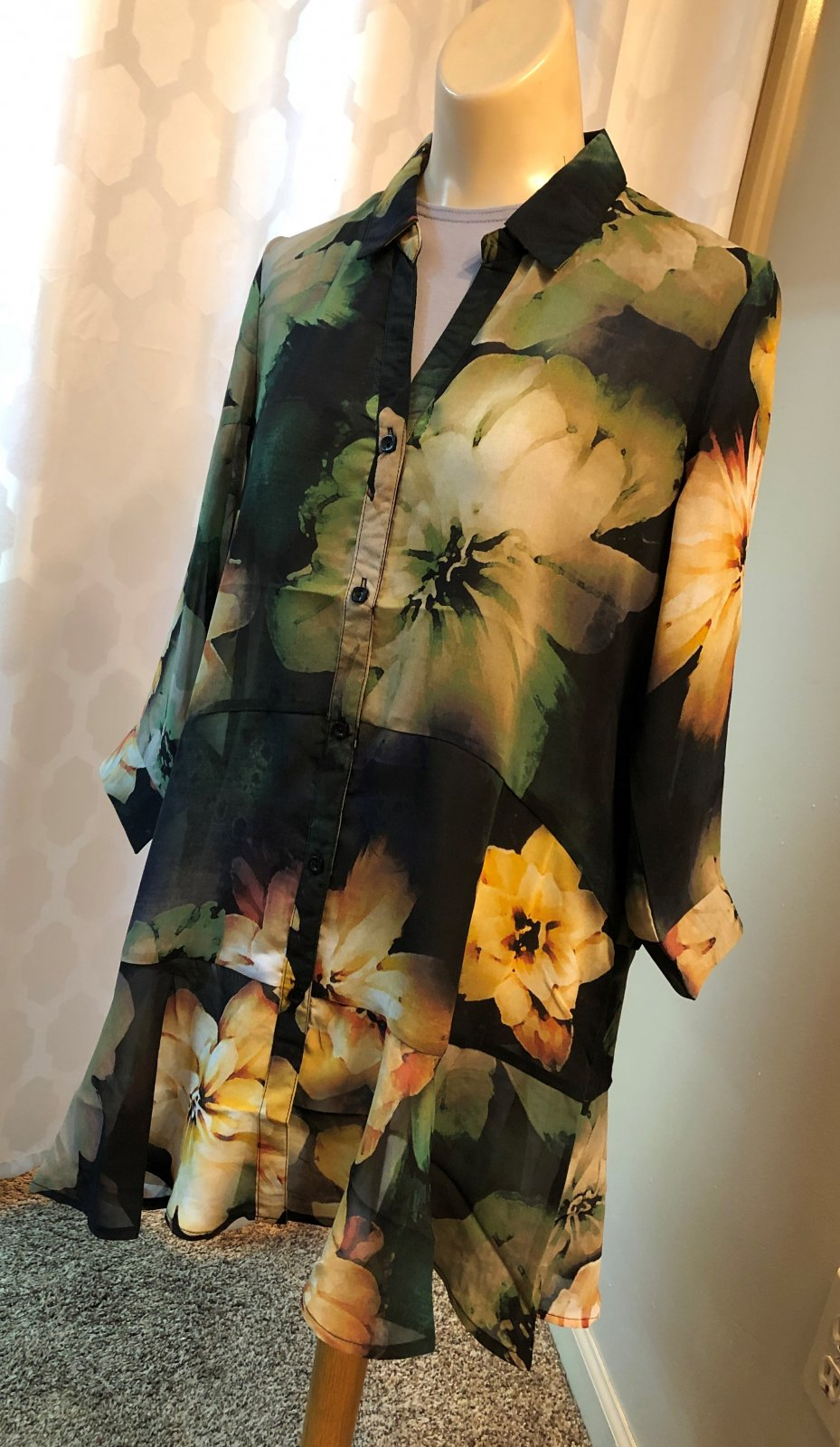 Lior Sheer Print Blouse