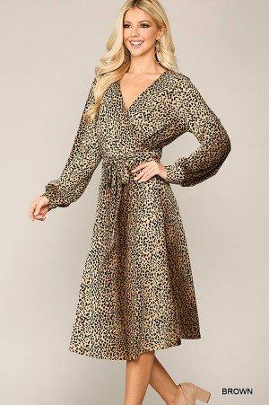 Gigio Animal Print Dress