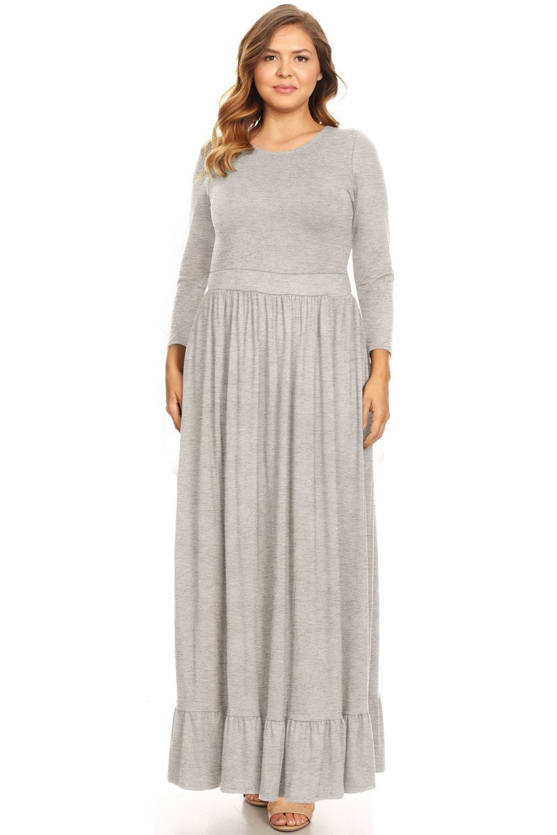 Plus gray maxi dress