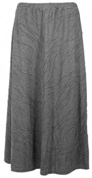 Gray Knit Casual Skirt