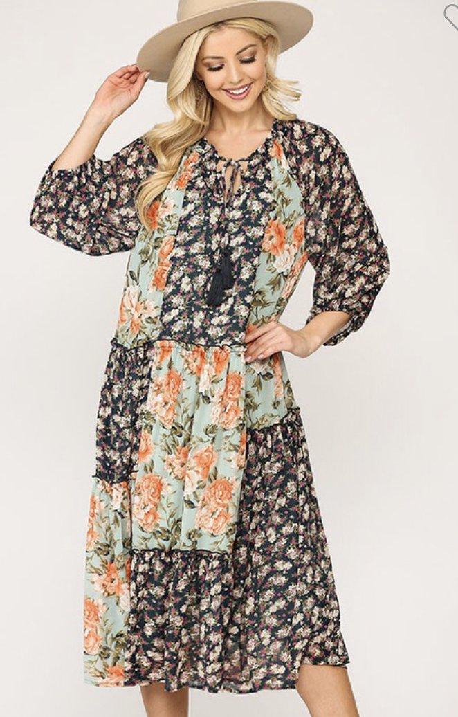 Chiffon Floral Dress Gigio