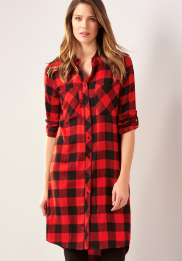 Plus Buffalo Plaid Dress CP
