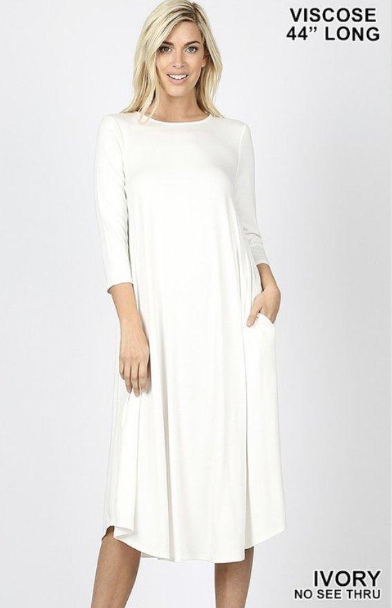 Zenana Ivory Dress