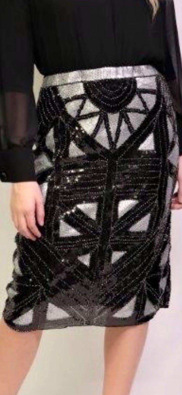 Black/Gray Sequine Skirt