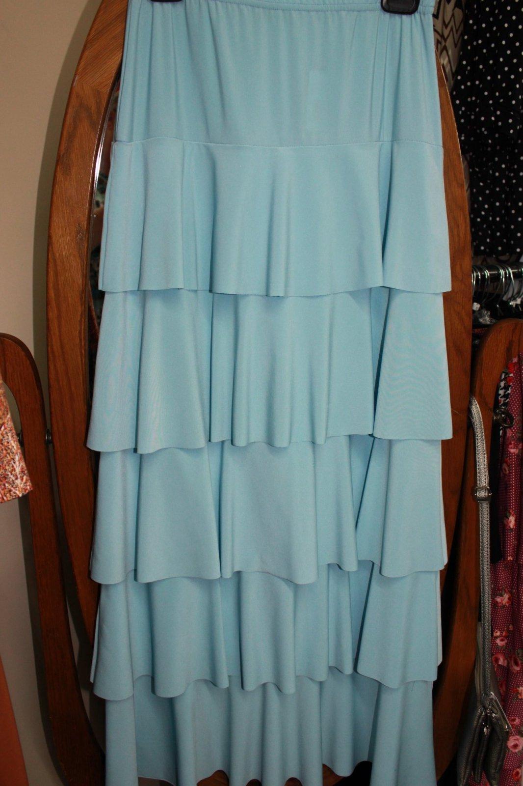 Ruffle, Layer Skirt, Light Blue