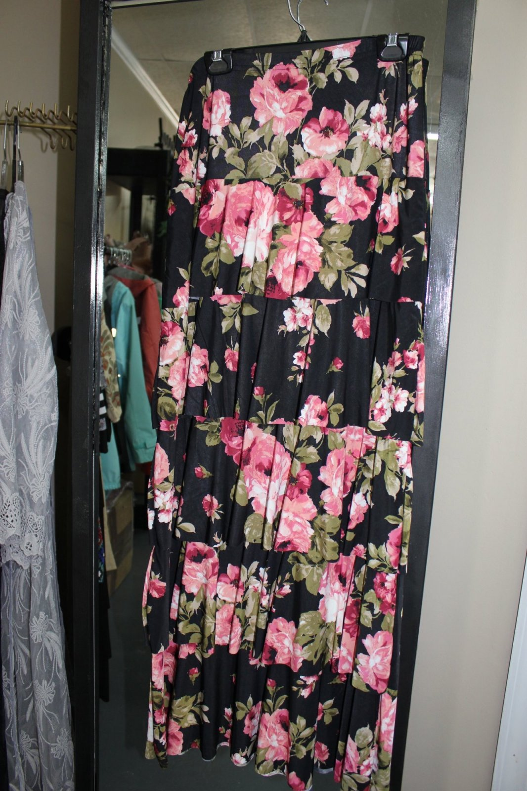 Maxi Petal Skirt Olive Check It Out
