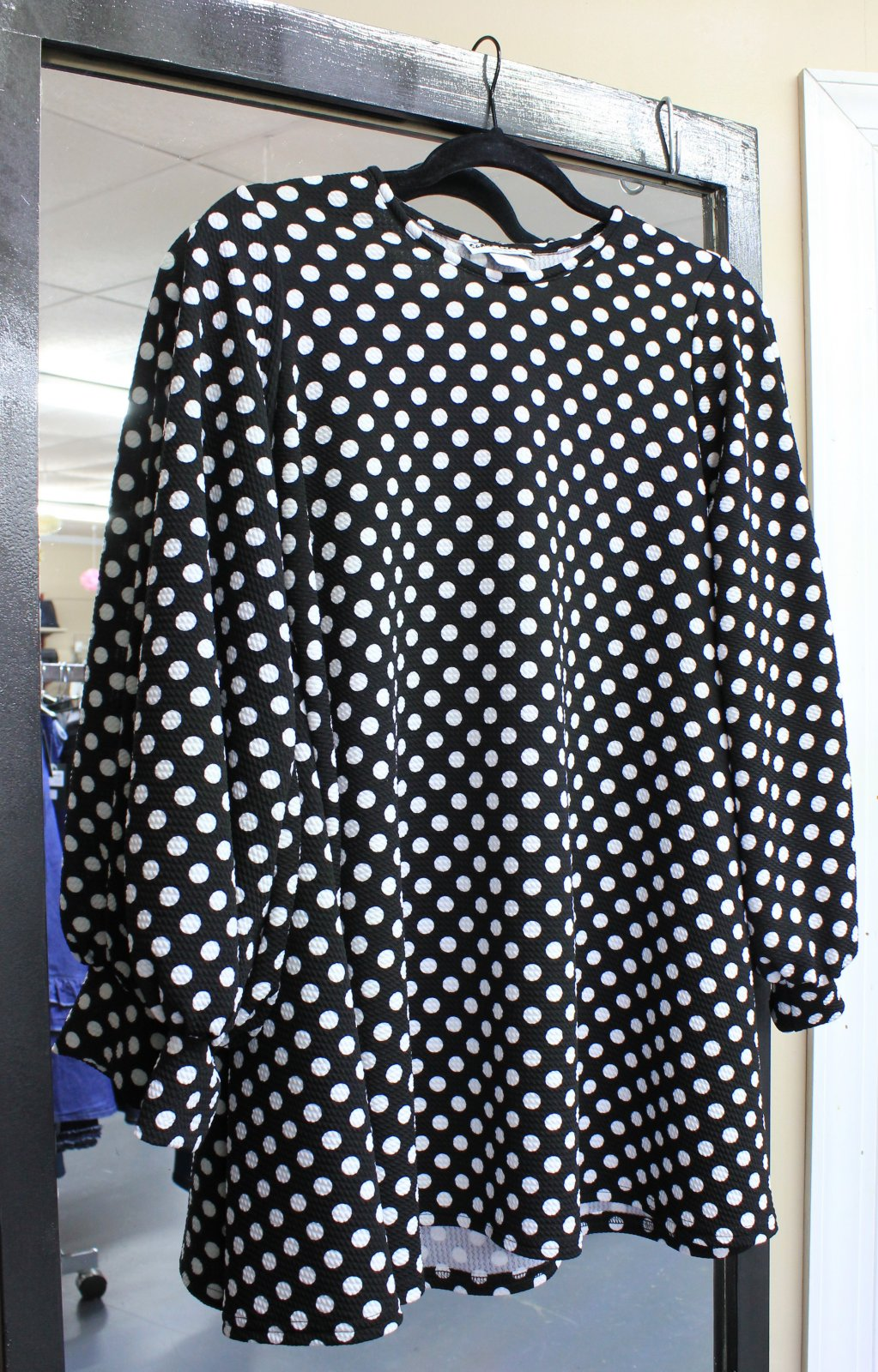 B/W dots swing tunic - Shane Lee