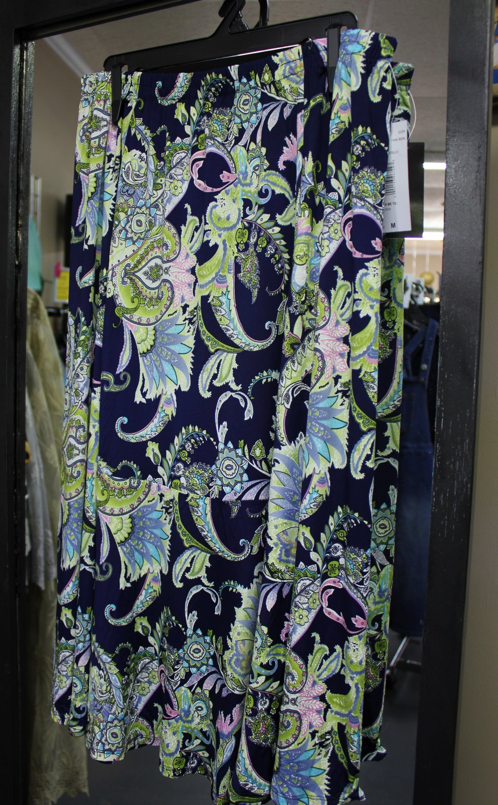 N Touch navy paisley skirt