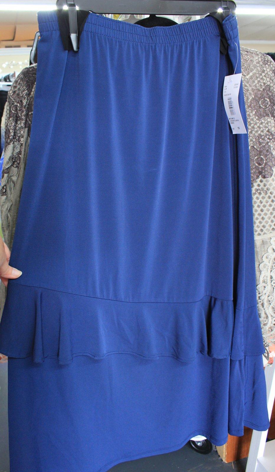 Southern Lady Plus Teal skirt w/ruffle