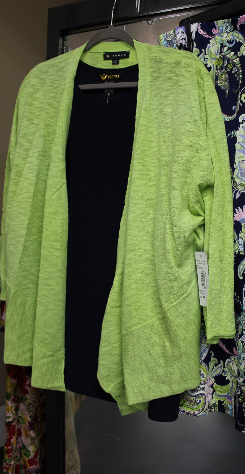 N Touch lime cardigan