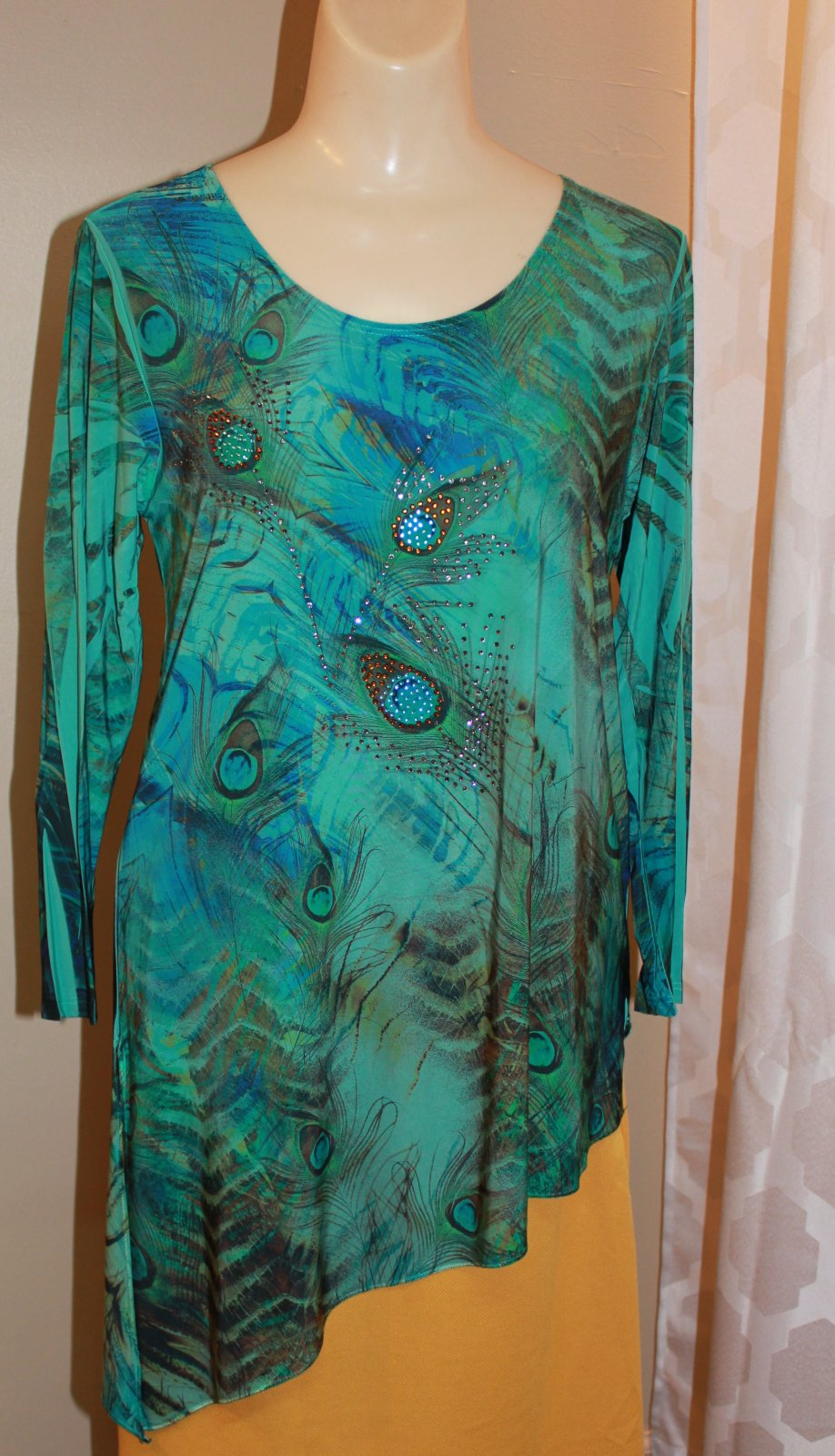 Pretty Woman Jade Peacock Tunic
