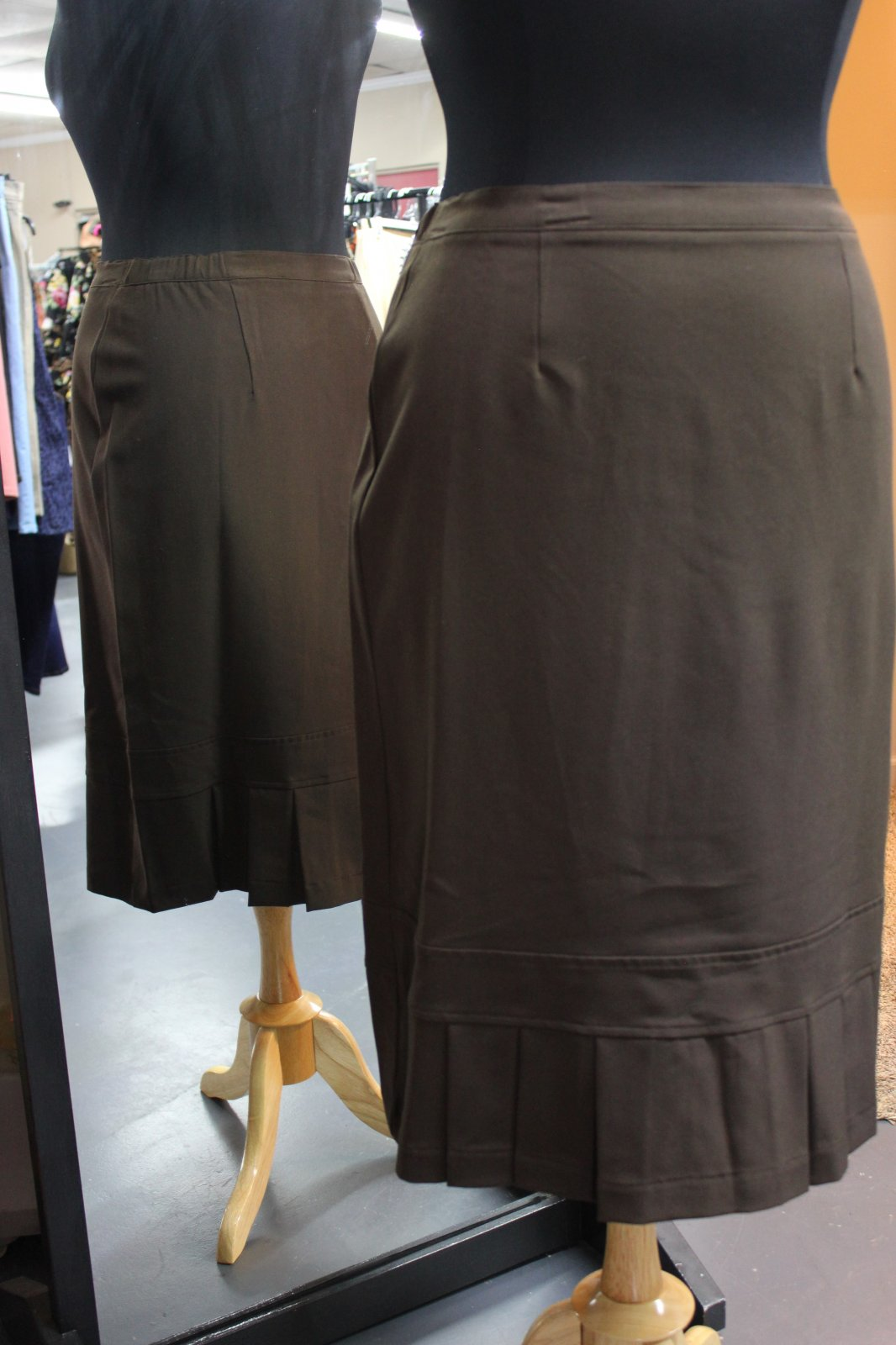N Touch Brown Straight Skirt