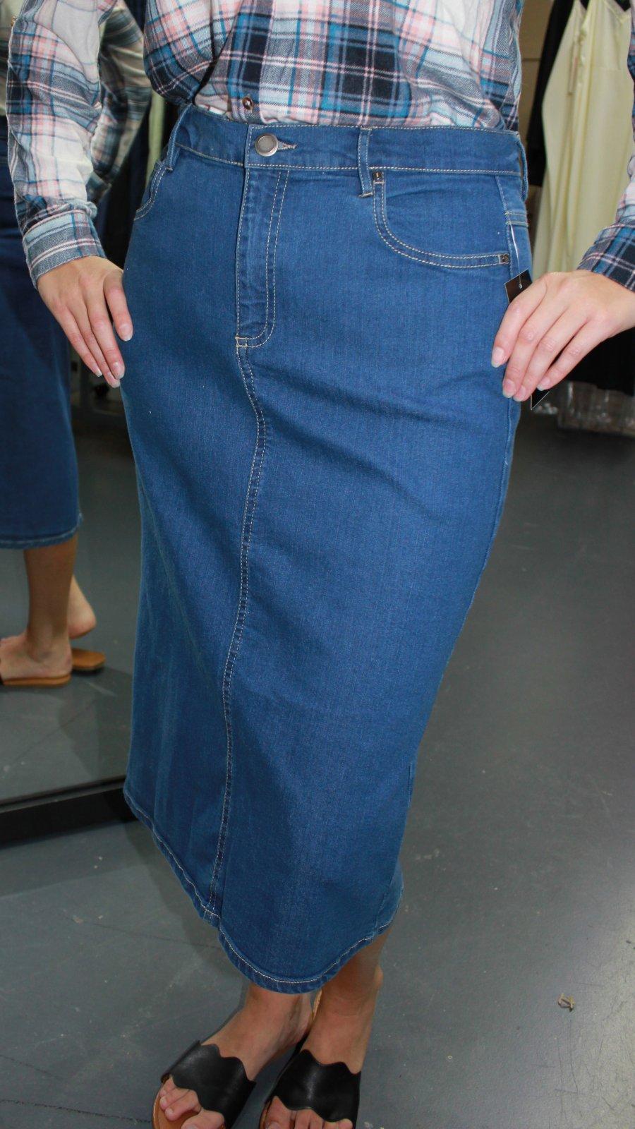 N Touch Denim Skirt