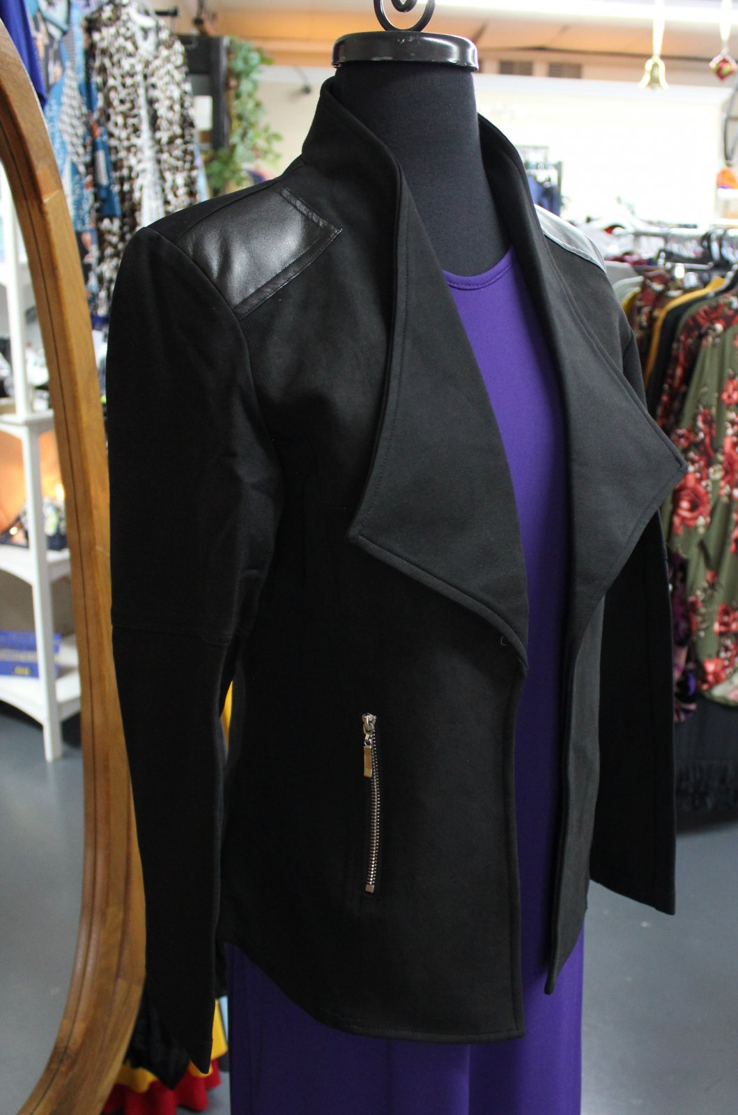 K. Hart Black Blazer w/zippers